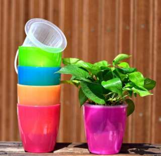 BN Self Watering Hydroponics Automatic Lazy Flower Plant/Herbs Pot Sz S/M/L