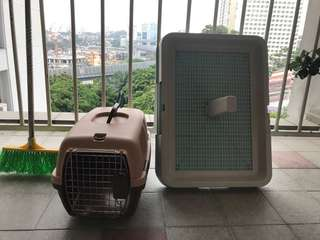Pet Carrier+dog pee station