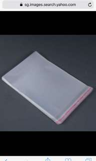 Clear self adhesive plastic (100pieces)