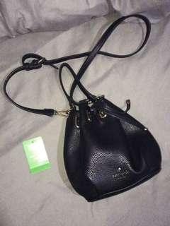 Kate Spade 黑色水桶包手袋 Handbag