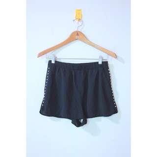 Black studded shorts