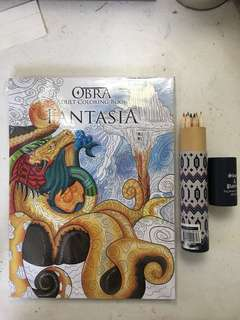 Coloring book with Coloring Pencil