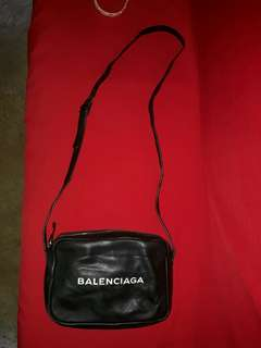 Balenciaga Printed Leather Shoulder Sling Bag