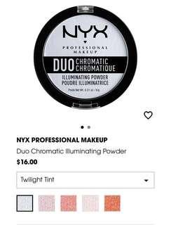 Nyx Duo Chromatic Illuminating Powder Highlight in Twilight tint