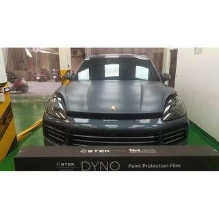 【騰信車體包膜】Porsche Cayenne 全車STEK消光透明TPU犀牛皮保護膜包膜(引擎蓋)