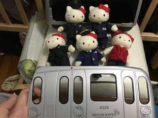 絕版 地鐵列車 連Hello Kitty公仔一套 2006年