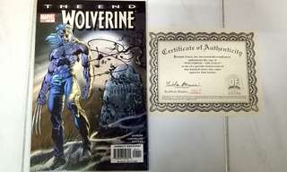 MARVEL COMICS WOLVERINE THE END #1 SIGNED BY PAUL JENKINS