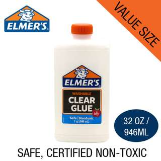 🚚 Elmer's Clear Glue for Slime Making 32OZ / 946ml
