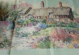 Rest House in Flower Garden-cross stitch