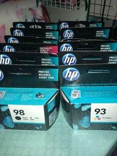 12 x Genuine Hewlett Packard ink cartridges new in box