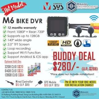 [BUDDY PROMO] M6 Motorcycle Camera