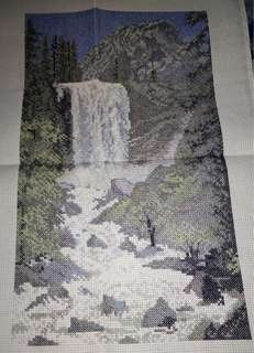 WaterFall-cross stitch