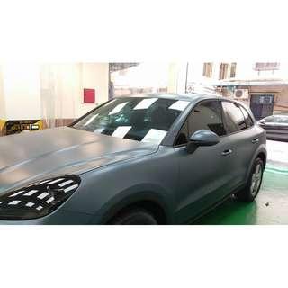 【騰信車體包膜】Porsche Cayenne 全車STEK消光透明TPU犀牛皮保護膜包膜(葉子板部份)