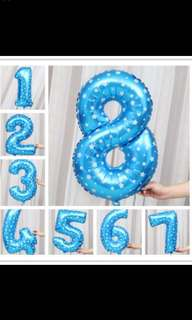 "Big Number Birthday Balloon 80cm (32"")"