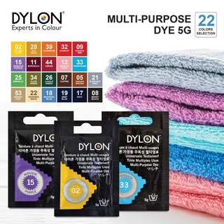 DYLON Multi-Purpose Fabric Dye 5g ( 22 color available ) LIST 1/2