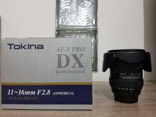Tokina 11-16mm f/2.8 AT-X 116 PRO DX Lens for Nikon Mount