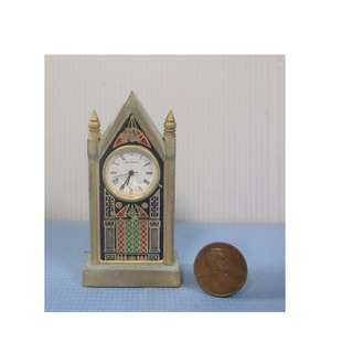 Dollhouse miniature clock battery operated new from old stock circa 1980s
