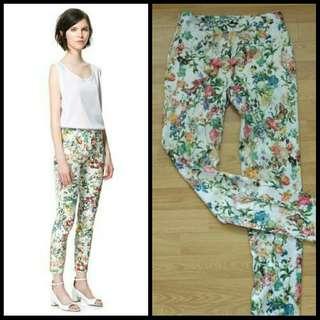 Zara Look A Like Floral Pants