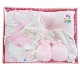 Hello Kitty 凱蒂貓 新生兒禮盒組H7009(夏版)