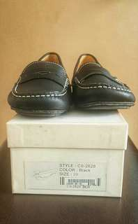 Pabder Black Leather Shoes
