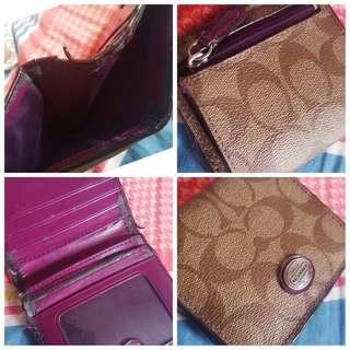 Authentic ! Coach wallet (Brown)