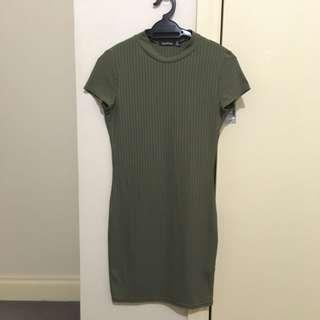 Boohoo Green Dress