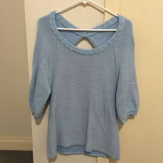 Pastel Blue Knit