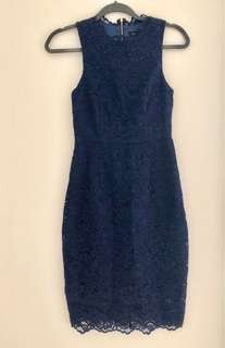Forever New Navy Lace Dress
