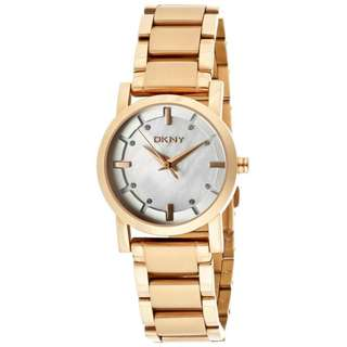 MOTHER OF PEARL DIAL ROSE GOLD-TONE CASUAL LADIES WATCH NY4857