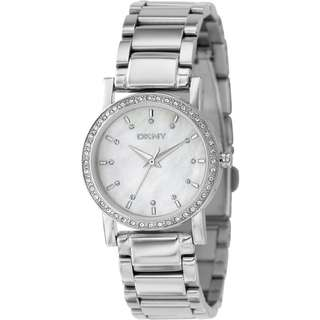 MOTHER OF PEARL DIAL STAINLESS STEEL CASUAL LADIES WATCH NY4791