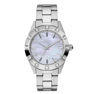MOTHER OF PEARL DIAL STAINLESS STEEL LADIES WATCH NY8660