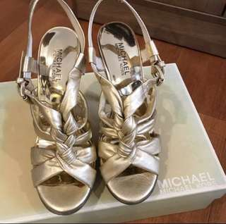 Michael Kors gold footwear
