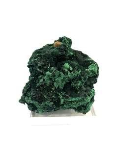 Raw malachite stone