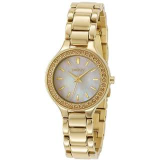 MOTHER-OF PEARL DIAL GOLD-TONE LADIES WATCH NY4889
