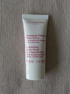 BN Clarins Exfoliating Body Scrub Travel Size 30ml