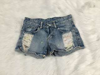 Painter's Denim Shorts