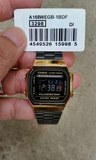 Original Casio watch A168 black gold
