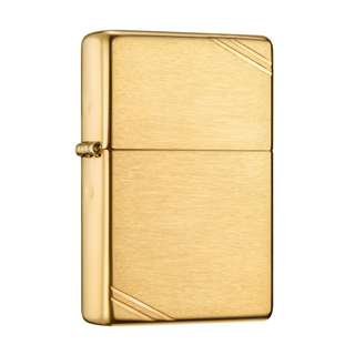 Zippo Brushed Brass Vintage with Slashes 240