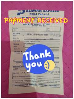 🌻Payment Received🌻