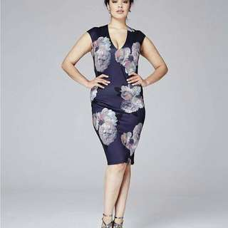🍃Short Sleeved Purple Floral Plus Size Dress