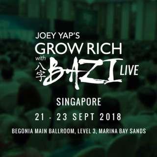 Joey Yap Grow Rich with Bazi Live