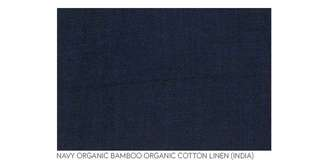 Navy Organic Bamboo Organic Cotton Linen by the metre