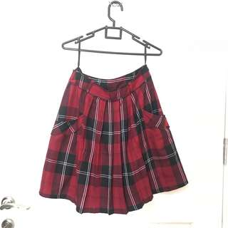 Red skirt fit to L
