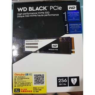 售全新WD 黑標 速度快 BLACK 256GB M.2 2280 PCIe Gen3 SSD 固態硬碟 五年保固