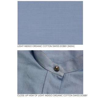 Light Indigo Organic Cotton by the metre
