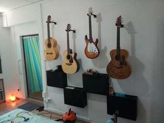 Guitar hanger mount