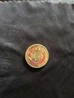 AU Commonwealth Games 2 dollar Red