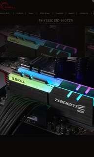 Trident Z RGB ddr4 2x16gb 3200mhz rams