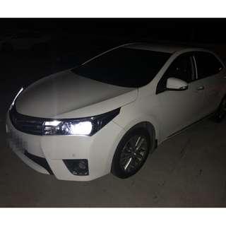 2014年 白 豐田ALTIS E版 跑9萬 全車系0頭款!! 讓你不用現金把車開回家