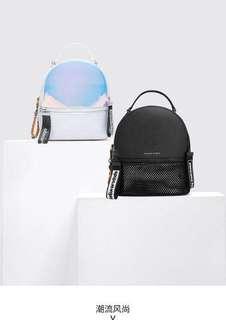 Original Charles & Keithh Hologram Backpack Sling Bag